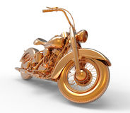 Golden Motorcycle Stock Photo