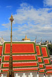 Golden Mount, as seen from Loha Prasat in Wat Ratchanaddaram Woraviha Royalty Free Stock Images