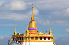 Golden Mount, as seen from Loha Prasat in Wat Ratchanaddaram Woraviha Stock Photos