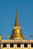 The Golden Mount in Bangkok. The Cheddi at the top of the Golden Mount, Wat Saket, in Bangkok. Thailand Stock Image