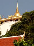 The Golden Mount in Bangkok. Golden Mount is the Buddhism temple which is located in Bangkok the capital of Thailand. You can walk up to the top to see Bangkok Stock Image