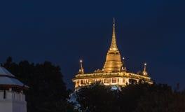 Golden Mount. Beautiful view of Wat Saket Ratcha Wora Maha Wihan Wat Phu Khao Thong, Golden Mount temple, a popular Bangkok tourist attraction and has become one Royalty Free Stock Photo