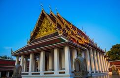 Golden Mount. Buddhist temple hall at Golden Mount, Wat Sraket, Bangkok, Thailand Royalty Free Stock Image