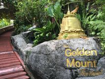The Golden Mount. The stairs towards the golden mount in Bangkok Thailand Stock Image