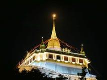 Golden Mount. Stay in Wat Sraket Rajavaravihara Thailand Stock Images