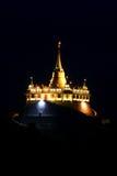 Golden mount temple, bangkok, thailand. Golden mount temple on night, bangkok, thailand Royalty Free Stock Photo