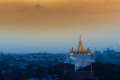 Golden Mount temple in Bangkok Thailand Royalty Free Stock Photo
