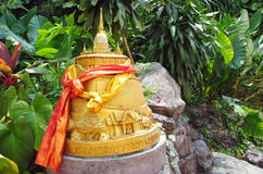 Golden Mount Temple in Bangkok Wat Saket Royalty Free Stock Photography