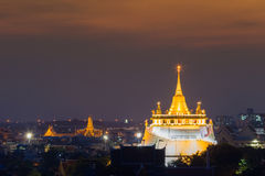 Golden Mount Temple the most travel Landmark of Bangkok Thailand Royalty Free Stock Photos