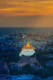 Golden Mount temple (Wat Saket) in Bangkok Royalty Free Stock Image