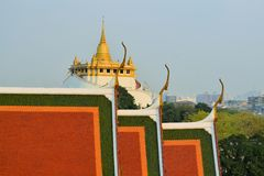 Golden Mount temple Wat Saket, Bangkok Stock Images