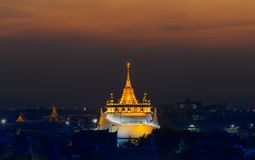 Golden Mount Temple or Wat Sarket, the most famous landmark in Bangkok Stock Photography