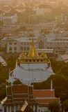 The Golden Mount in Wat Saket at Bangkok, Thailand. Stock Image
