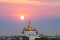 The Golden Mount at Wat Saket Stock Image