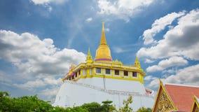 The Golden Mount at Wat Saket, Travel Landmark of Bangkok stock footage