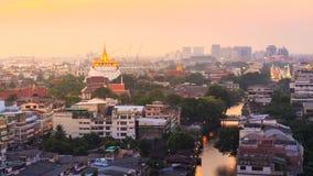 Golden Mount. The Golden Mount at Wat Sraket Rajavaravihara temple, Travel Landmark of Bangkok, Thailand Royalty Free Stock Photo