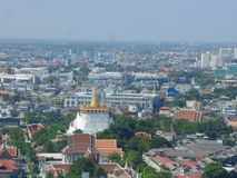 Golden Mountain and Bangkok city center overview Stock Images