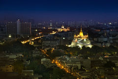 Golden mountain at bangkok, thailand Royalty Free Stock Image