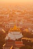 Golden mountain. In Bangkok Thailand Stock Photos