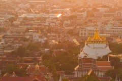 Golden mountain. In Bangkok Thailand Royalty Free Stock Photos