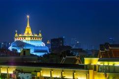 Golden Mountain Pagoda Bangkok Stock Photos