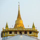 Golden mountain pagoda at Wat Saket temple Royalty Free Stock Images
