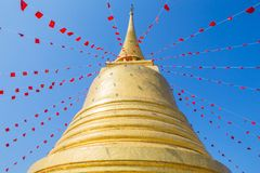 Golden mountain (phu khao thong) Stock Photo