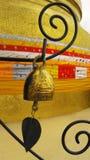 Golden Mountain single bell, Bangkok Stock Photo