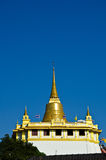 Golden mountain temple ancient thai Stock Images