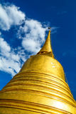Golden mountain temple Stock Photo