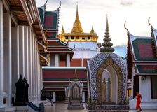 Golden Mountain Temple, Wat Saket Bangkok. Bangkok, Thailand - May 5, 2018: Golden Mountain Temple or Wat Saket Bangkok. The mountain was construct since the Royalty Free Stock Images