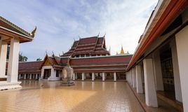 Golden Mountain Temple, Wat Saket Bangkok. Golden Mountain Temple or Wat Saket Bangkok. The mountain was construct since the King Rama III  and the Chedi was Stock Image