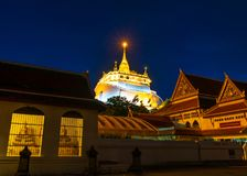 Golden Mountain Temple, Wat Saket Bangkok Stock Image
