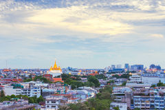 Golden Mountain Temple, Wat Saket Bangkok Royalty Free Stock Photo