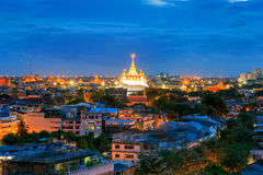 Golden Mountain Temple, Wat Saket Bangkok Stock Photography