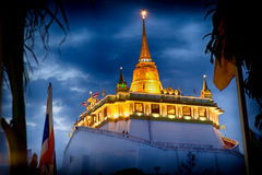 Golden mountain temple Wat Saket Royalty Free Stock Photos