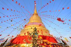 Golden mountain thailand Royalty Free Stock Photo