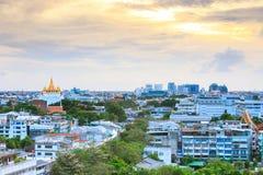 Golden Mountain Wat Saket Bangkok Stock Image