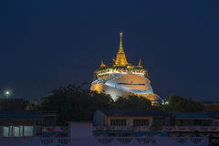 The golden mountain, Wat Sraket, landmark of Bangkok, Thailand. Stock Photography