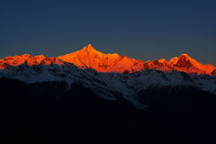 Golden mountains Stock Images