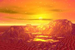 Golden mountains Royalty Free Stock Photography