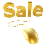 Golden mouse and buy Stock Images