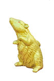 Golden mouse statue Royalty Free Stock Photos