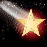 Golden moving star Royalty Free Stock Image