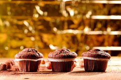 Golden muffins Royalty Free Stock Photos