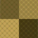 golden multi pattern swirl Στοκ εικόνα με δικαίωμα ελεύθερης χρήσης