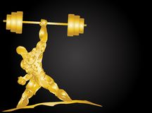 Golden muscle Stock Image