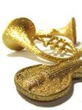 Golden Music. Al Instruments royalty free stock photos