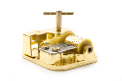 Golden music box Stock Images