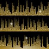 Golden music equalizer backgrounds set. Gold halftone vector sound waves. Vector illustration. Golden music equalizer backgrounds set. Gold halftone vector Stock Photography